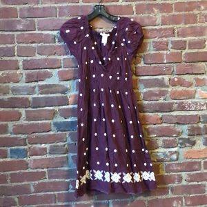 VINTAGE 90's Peasant Dress